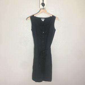 ANN TAYLOR • Black Button Down Sleeveless Dress